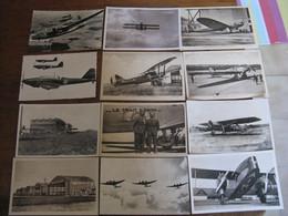Lot De 12 Cp  AVIONS - AVIATEUR - AERODROME - 1919-1938: Entre Guerras