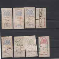 Fiscaux - EFFETS DE COMMERCE Type Groupe Oudiné Lot De 8 Timbres - Revenue Stamps