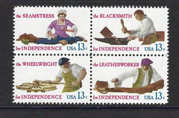 USA 1977, MiNr.1305-1308, Handwerksberufe Aus Der Zeit Der Unabhängigkeitskriege, Postfrisch Mnh ** - Unused Stamps