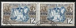 FRANCE 1957: Paire Du Y&T 1107, Obl. CAD - Oblitérés