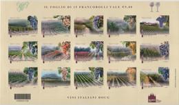 Italia - 2012 - Made In Italy 19^ Serie Vino Docg In Foglietto Di 15v Adesivi MNH** (rif BF75 Cat. Unificato) - Hojas Bloque