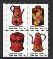 USA 1979, MiNr.1378-1381, Amerikanische Volkskunst: Blechgeschirr Aus Pennsylvania, Postfrisch Mnh ** - Unused Stamps