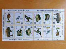 999 WWF Fauna Faune BELARUS Cadre Jaune, Yellow Border - Unused Stamps