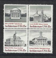 USA 1979, MiNr.1382-1385, Amerikanische Architektur, Postfrisch Mnh ** - Unused Stamps