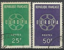 FRANCE - Année 1959 - Y&T N° 1218-1219 Oblitérés TTB - Oblitérés