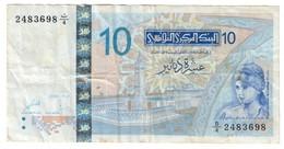 Tunisia 10 Dinars 07/11/2005 - Tusesië