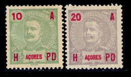 ! ! Azores - 1906 D. Carlos 10r & 20 R - Af. 98-99 - MH - Azores