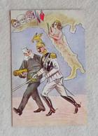 Cartolina Postale Postale Allegorica (firmata P. Villani), Non Viaggiata - Patriottisch
