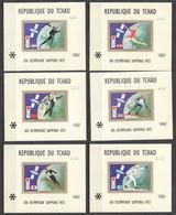 UU789 IMPERF CHAD TCHAD OLYMPIC GAMES SAPPORO 1972 MICHEL BLA45-F45 200 EU 6BL MNH - Winter 1972: Sapporo