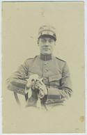 Portrait D'un Militaire. Militaria. Soldat. À Identifier. Unifome. Tirage Citrate Circa 1910. - War, Military
