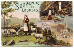 Cpa,  SOUVENIR DE LOURDES - LF Toulouse /486 - Gruss Aus.../ Grüsse Aus...