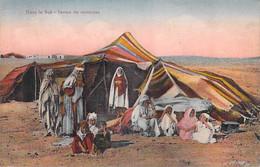 Afrique  Algérie Dans Le Sud Tentes De Nomades (marque Postale MARINE FRANCAISE Service à La Mer Contre Torpilleur MALIN - Szenen