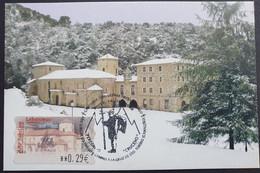 Tarjeta Máxima ESPAÑA 2006: ATM Monasterio De Santo Toribio De Liébana Nevada - Cartoline Maximum