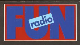 AUTOCOLLANT ADHÉSIF STICKER - RADIO FUN FM - Adesivi