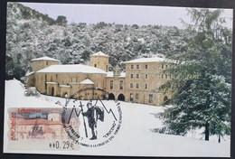 Tarjeta Máxima ESPAÑA 2006: ATM Monasterio De Santo Toribio De Liébana Navada 2 - Cartoline Maximum