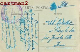 MARCOPHILIE CACHET DE L'HOPITAL MILITAIRE N°53 DE SEZANNE PLACE CHAMP-BENOIST FAMILLE MORISSET PRECY-LE-SEC - Sezanne
