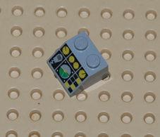 Lego Brique Pente 45 2 X 2 Avec Motif De Commande De Vol Ref 3039pc5 - Lego Technic