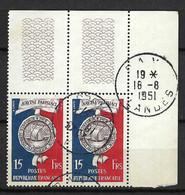 FRANCE 1951: Paire CDF Du Y&T 906, Obl. CAD - Oblitérés