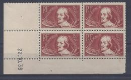 JACQUES CALLOT N° 330 - Bloc De 4 COIN DATE - NEUF SANS CHARNIERE - 22/10/36 - 1930-1939