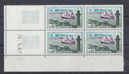 BOULOGNE Sur MER N° 1503 - Bloc De 4 COIN DATE - NEUF SANS CHARNIERE - 16/5/67 - 1960-1969