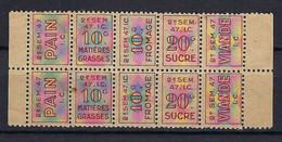 FRANCE 1946: Tickets/Timbres De Rationnement - Pubblicitari