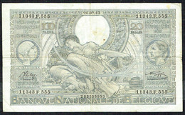 BELGIQUE - 100 Francs / 20 BELGAS - 26/07/1943 - N° 11343.F.555 - 100 Francs & 100 Francs-20 Belgas