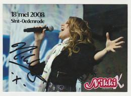 Handtekening-signature: IDOLS Nikki Sint-oedenrode (NL) - Autografi