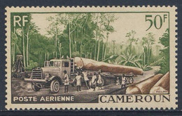 Cameroun Kamerun 1955 Mi 309 YT 46 SG 260 ** Transporting Logs / Holztransport / Exploitation Forestière, Edeka - Camion