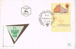 38449. Carta F.D.C. JERUSALEM (Israel) 1958. Exposicion Filatelica. Stamp And TAB - FDC