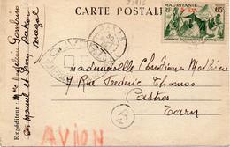 MAURITANIE : CP . CENSUREE . DU SENEGAL . POUR CASTRES . 1944 . - Ohne Zuordnung