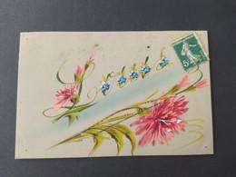 """Carte Postale En Celluloïd """"Louis"""", Prénom Avec Fleurs (pensée) - Altri"""