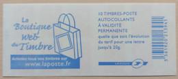 France - Carnet 3744A-C1 - Marianne De Lamouche Phil@poste TVP - La Boutique Web Du Timbre - Non Plié - Uso Corrente