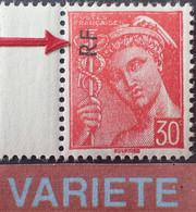 """R1118/398 - 1944 - TYPE MERCURE - N°658 NEUF** BdF - VARIETE ➤➤➤ Surcharge """" RF """" Très Déplacée - Variedades: 1941-44 Nuevos"""