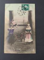 Carte Postale Alphabet, Lettre H  / Timbre Et Cachet 1908 / Photographie, Editions Musterschutz 195 - Altri