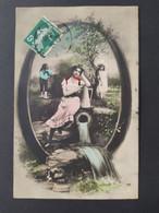Carte Postale Alphabet, Lettre Q Ou O  / Timbre Et Cachet 1908 / Photographie,Editions Musterschutz 195 - Altri