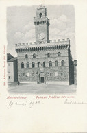 Montepulciano Palazzo Publico  Edit Vierbucher  Milano Pionnière Avant 1902 - Other Cities