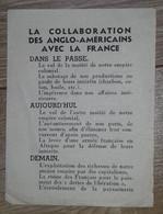 'La Collaboration Des Anglo-américains Avec La France' (tract Anti Alliés) - Geschiedenis