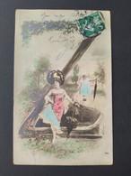 Carte Postale Alphabet, Lettre Z  / Timbre Et Cachet 1908 / Photographie, Editions Musterschutz 195 - Altri