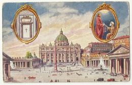 Italia Roma - Basilica S. Pietro , Used Old Postcard - San Pietro