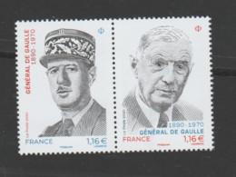 FRANCE / 2020 / Y&T N° 5442/5443 ? ** : Diptyque Général De Gaulle X 1 - Unused Stamps