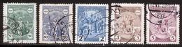Tchecoslovaquie 1929 Yvert 258 / 262 (o) B Oblitere(s) - Gebruikt