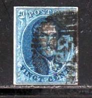 Belgique 1858 Yvert 11 (o) B Oblitere(s) - 1858-1862 Medallions (9/12)