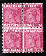 Gibraltar 1889 Yvert 23 ** TB Bloc De Quatre - Gibraltar