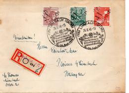 """ALLEMAGNE : REC . OBL . """" LIMBACH """" . 1948 . VIGNETTE AU DOS . - Covers & Documents"""