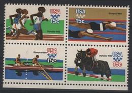 NAUT 16 - ETATS-UNIS Bloc De 4 Neuf** Jeux Olympiques 1980 - Unused Stamps