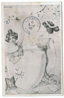 Cpa, UDWIG RAUH. M.J.S. Lingerie Blanc Bonneterie Laines Et Confections. 17 RUE Et 9 RUE Grenette  /502 - Donne