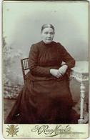 Photo Cabinet. Femme  En Robe Longue. Tournai,Courtrai. Foto Ruys Morel. - Old (before 1900)