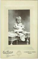 Photo Cabinet. Jeune Enfant. Tournai. Foto Triebels. - Old (before 1900)