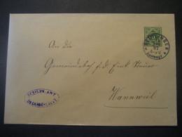 Altdeutschland Württemberg 1907- Ganzsache Schultheissenamt- Beleg Mi.Nr. 114 Von Reutlingen/Bahnhof Nach Wannweil - Wurtemberg