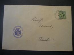Altdeutschland Württemberg 1892- Ganzsache Schultheissenamt- Beleg Mi.Nr. 103 Gelaufen Von Tröchtelfingen - Wurtemberg